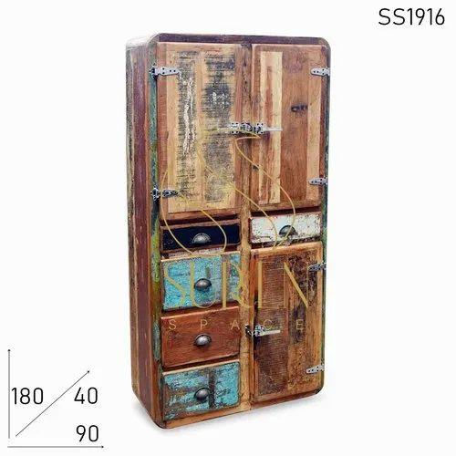 Resort Designer Shabby Chic Hutch Cabinet