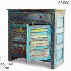 Vintage Style Rustic Side Board Cabinets, Size: 90 X 40 X 90 Cm