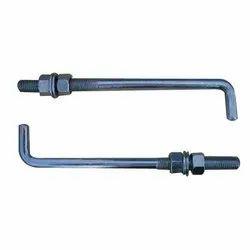 Half Thread Mild Steel L Bolt, For Industrial, 50 Kg