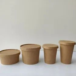 250 and 500 ml Kraft Paper Container