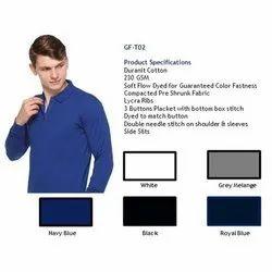 Duranit Cotton Plain Full Sleeve Polo T Shirt