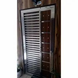 Polished Home Stainless Steel Single Door, Thickness: 12 Mm, Material Grade: SS304