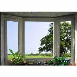 White UPVC Fixed Fenesta Window, Glass Thickness: 4mm