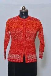 1401 Woolen Round Neck Cardigan