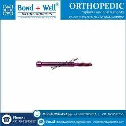 6.4 mm Orthopedic Implants Lag Screw for PFN