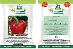 Porwal Hybrid Red Capsicum Seed, Packaging Type: Packet, Packaging Size: 10 Gram