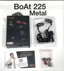 Mobile & Laptop Black, Red Original Boat Bass Heads 225 Earphone ( Metal )