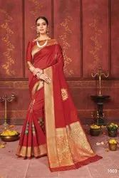 Fancy Designer Lichi  Silk Saree