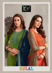 Kessi Gulal Jam Silk Embroidery Work Slawar Suits Catalog