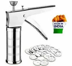 Stainless Steel Kitchen Press with 15 Different Jali (Idiyappam and Sev Maker))