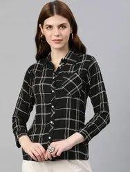 Rayon Checks Printed Shirt