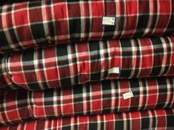 Red Checks Gadda check fabric 2, GSM: KG 11.700
