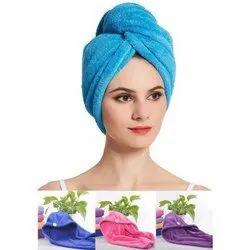 Cotton Plain Head Towel Wrap, For Bathroom, Size: 40 Inch * 15 Inch