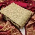 Banarasi Dress material with banarasi dupatta