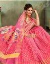 Pink Color Poly Cotton Saree