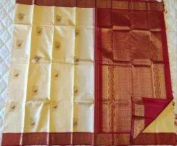 Red & White Color Silk Saree