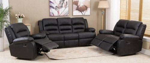 Black Fabric Recliner Sofa Sets For, Fabric Living Room Sets With Recliner