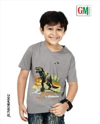 Cotton Kids Round And V Neck Printed T-Shirts