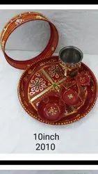 Handmade unique Karwachouth Thali