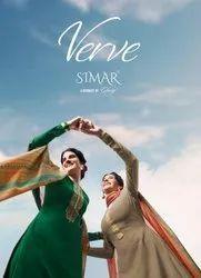 Glossy Simar Verve Tussar Silk Plazzo Style Salwar Suits Catalog