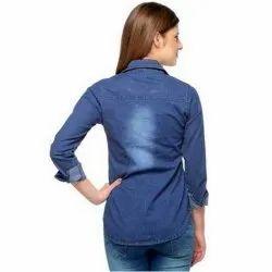 Blue Denim Shirt(Blue), Size: S-XL