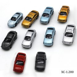 Multicolor Plastic Artificial Model Car With and Without Lights