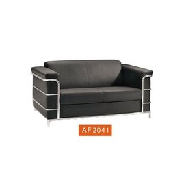 1.5 Feet 2 Seater Black Office Sofa