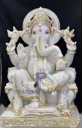 Makrana White Marble Ganesha Moorti