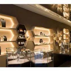 Showroom Interior Designing, Work Provided: False Ceiling/POP