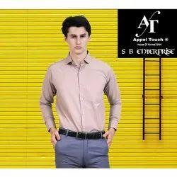 Appel Touch Cotton Men Plain Formal Full Sleeve Shirt, Handwash