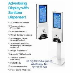 Floor Stand Electronic Hand Sanitizer Alcohol Gel Dispenser Soap Dispenser Kiosk