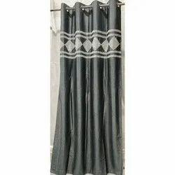 MUFA Printed Grey Designer Door Curtain, Size: 7*4 Feet