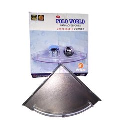 Transparent PVC Polo world 8 Inch Unbreakable Bathroom Corner