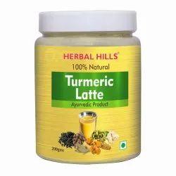 Herbal Hills 100% Natural Golden Turmeric Latte - 200 Gms