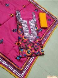 Rockstar Silk Punjabi Suits, Dry clean