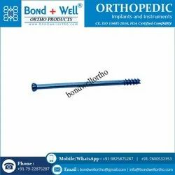 Orthopedic Cannulated Cancellous Screw