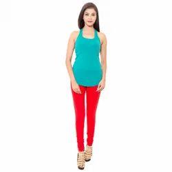 Humaira Cotton Ladies Red Legging, Size: M-XXL