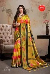 Printed Designer Silk Saree