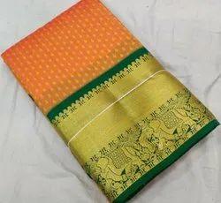 Party Wear Ladies Jacquard Saree, With Blouse Piece, 5.5 metre