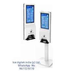 Advertising Digital Signage Kiosk Electric Automatic Hand Sanitizer