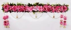 Pink Fabric Flower Bandhanwar, For Decoration, 40 Inches