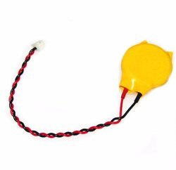 lithium battery 3v cr2032 battery with wire and connector., YELLOW, Battery Capacity: 220mAh