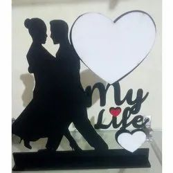 Table Top Wooden Couple Photo Frame