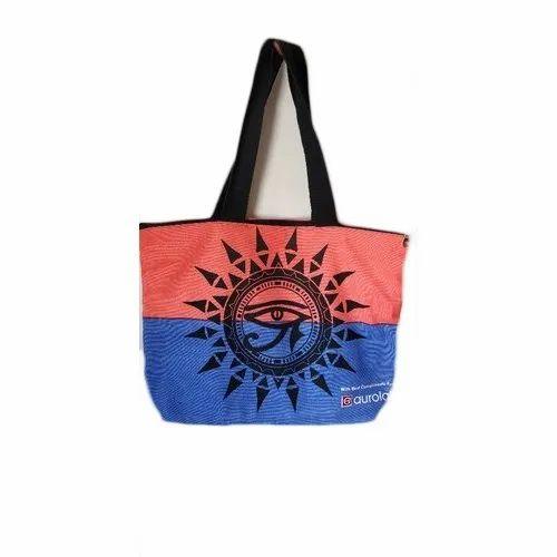Printed Designer Shoulder Cotton Bag, Size/Dimension: 8 X 12 Inch