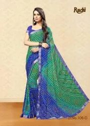 Casual Wear Printed Jamkudi 106 Colours Ruchi Branded Sarees, With blouse piece