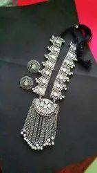Silver Afghani Thread Necklace Set