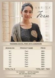 Varina Present Fern By Omtex Pashmina Beautiful Suits Wholesaler