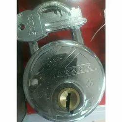 Force With Key Safety Padlocks, Padlock Size: 65 mm, Chrome