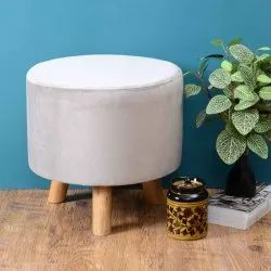 Natural Modern Wooden Stool Benches, For Footrest, Size: Small