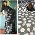 Printed Linen Saree